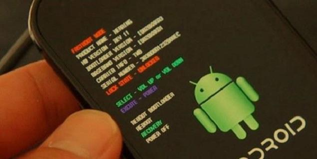 Android menu recovery mode