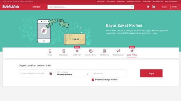 BukaZakat, Layanan Zakat Online Milik Bukalapak