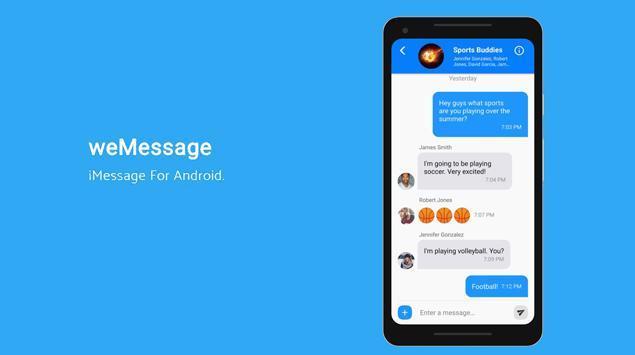 weMessage, Cara Berkirim iMessage lewat Android