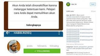 Instagram Ingin 'Matikan' Habib Rizieq?