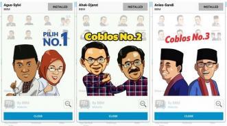 Sambut Pilkada, BBM Hadirkan 3 Stiker Pasangan Cagub-Cawagub DKI