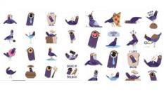 Lagi Heboh Di Facebook, Inilah Sticker Burung Berwarna Ungu itu