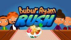 Gameplay Rush ala Tukang Burger dalam Bubur Ayam Rush