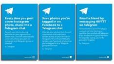 Telegram Terhubung dengan 350 Aplikasi melalui IFTTT
